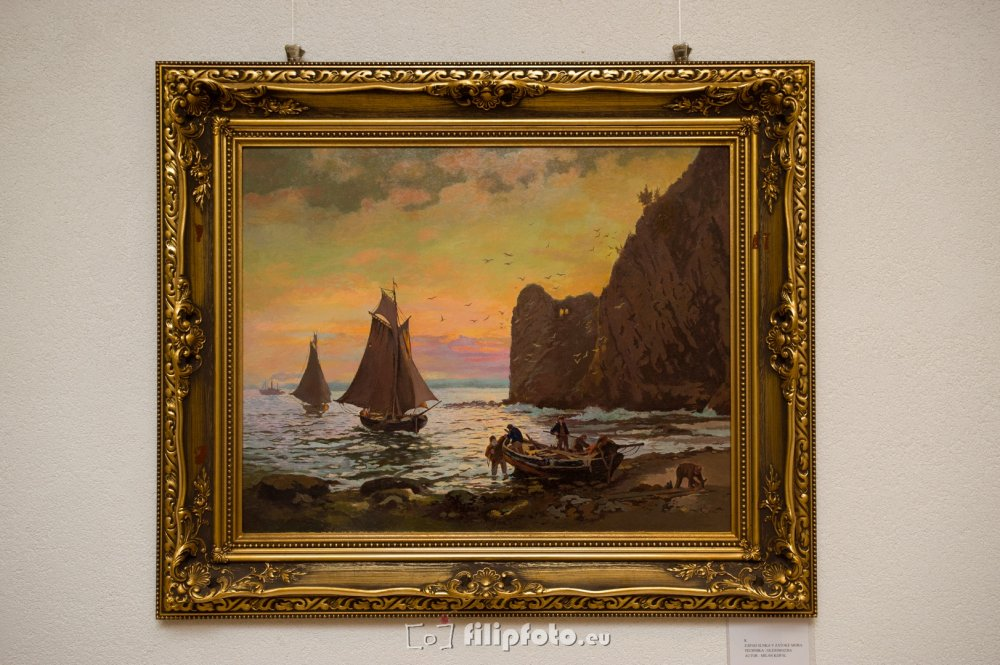 Buy Sunset in the bay of the sea