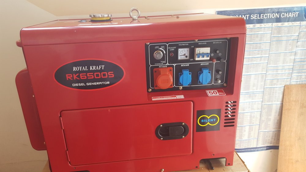Buy Power generator 6500 watts continuous power with a diesel engine