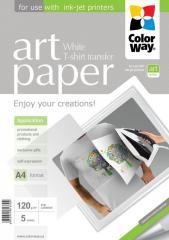 Photo paper ColorWay ART T-shirt transfer (white)